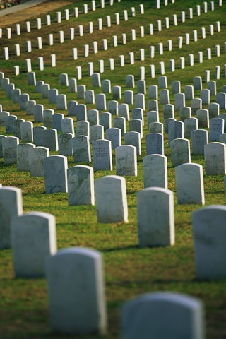 Graves at Fort Rosecrans National Cemetery San Diego, California, USA