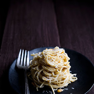 Spaghetti with Parmesan, Pine Nuts and Brown Butter Sauce