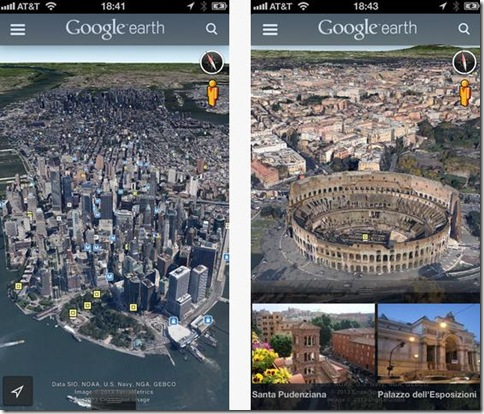 Nuovo Google Earth per iOS e Android
