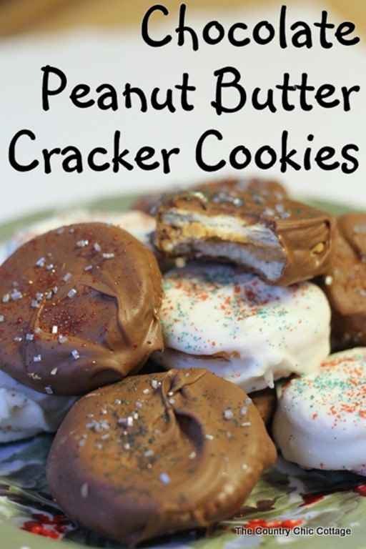 chocolate peanut butter cracker cookies