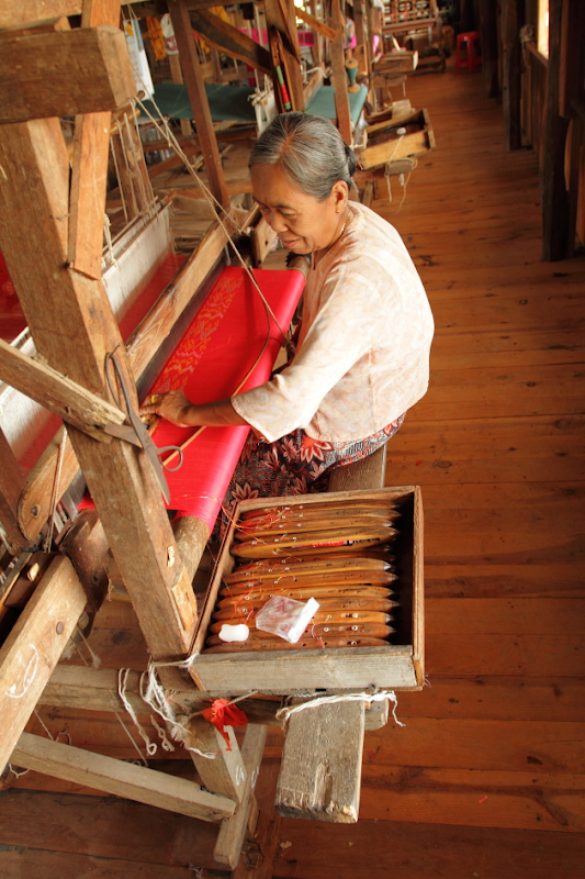 A Longyi for the woman being prepared