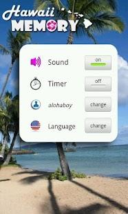 Hawaii Memory Spiel PRO – Miniaturansicht des Screenshots