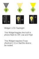 Screenshot of LED Flashlight Widgets
