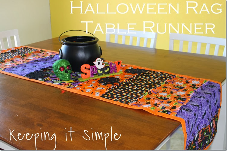 Halloween rag table runner