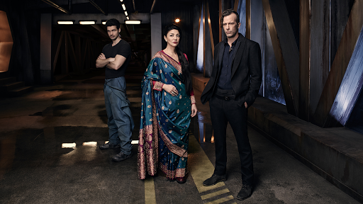 Jim Holden & Avasarala in The Expanse