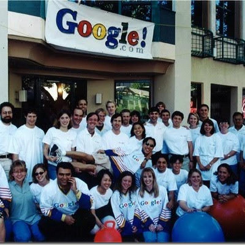 Empleados de Google foto de 1999