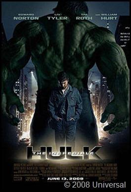 Hulk Movie Poster 2008 Universal