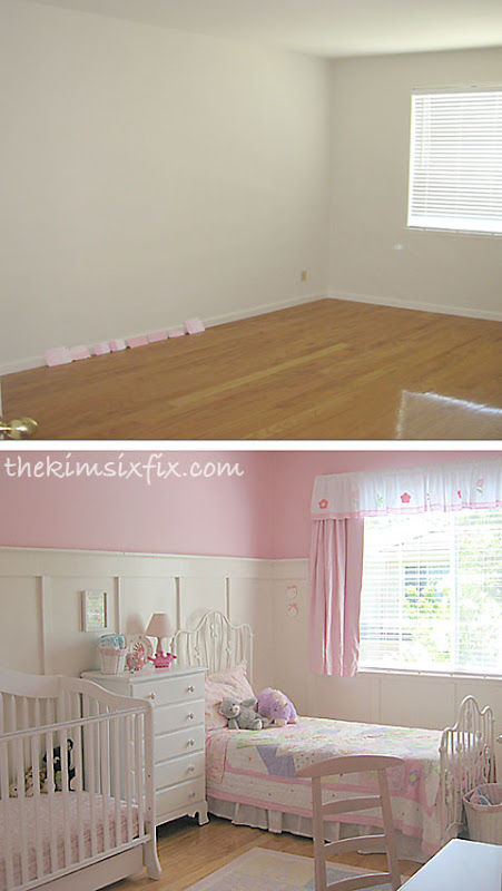 Girls room before after