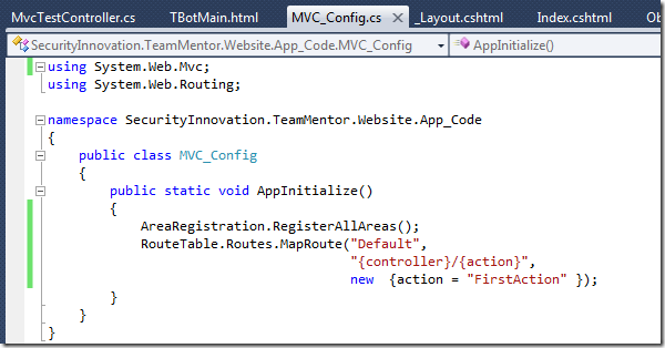 Dinis Cruz Blog: Using ASP NET MVC 4 0 in TeamMentor (with
