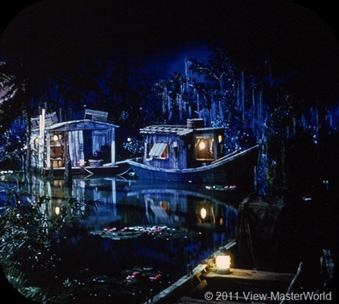 View-Master New Orleans Square (A180), Scene 1-3: Blue Bayou Lagoon