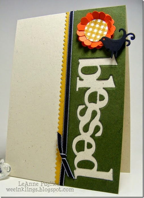 LeAnne Pugliese WeeInklings Paper Players 217 Take 2 Blessed CAS Stampin Up Paper Trey