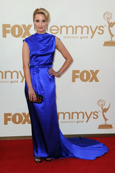 Dianna Agron arrives at the 63rd Annual Primetime Emmy Awards
