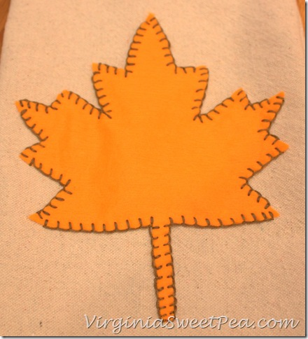 Leaf on Drop Cloth Tea Towel