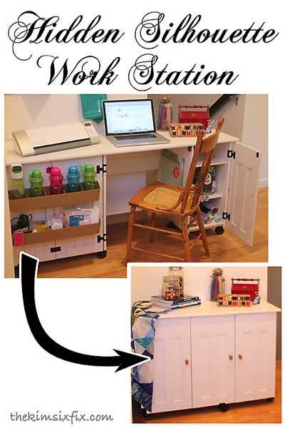 Hidden silhouette work station