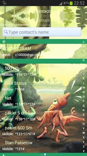 GO SMS Pro Theme dinosaur- screenshot thumbnail