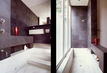 baños-modernos-baños-con-diseño-piedra-negra-revestimientos