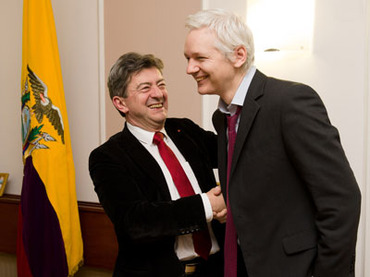 Julian Assange and Jean-Luc Melenchon