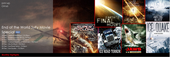 HYPP TV SYFY Movie Specials: THE END IS NEAR…WILL WE SURVIVE