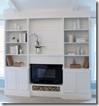 DIY Bookcases with fireplace2