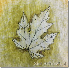 Sue Reno, Silver Maple embroidery, back view