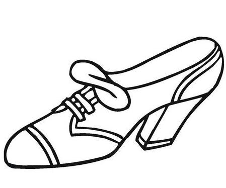 Zapatos En Dibujos Para Colorear Imagui