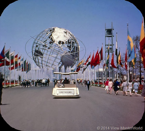 View-Master New York World's Fair 1964-1965 (A671),Scene 1: The Unisphere from the Court of the Nations