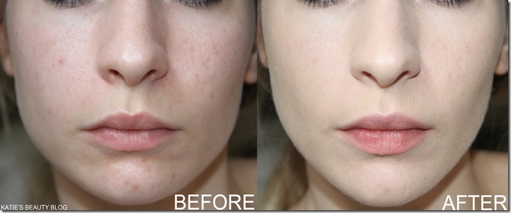 NARS SHEER GLOW BRFORE AND AFTER