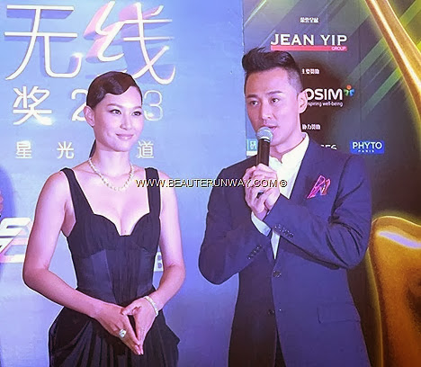 Starhub TVB Awards 2013 Raymond Lam Highs and Lows  Starhub My Favourite TVB Male Character Perfect Poise Award by Osim Kate Tsui Female Character Dazzling Female Artist award SK Jewellery Singapore MBS