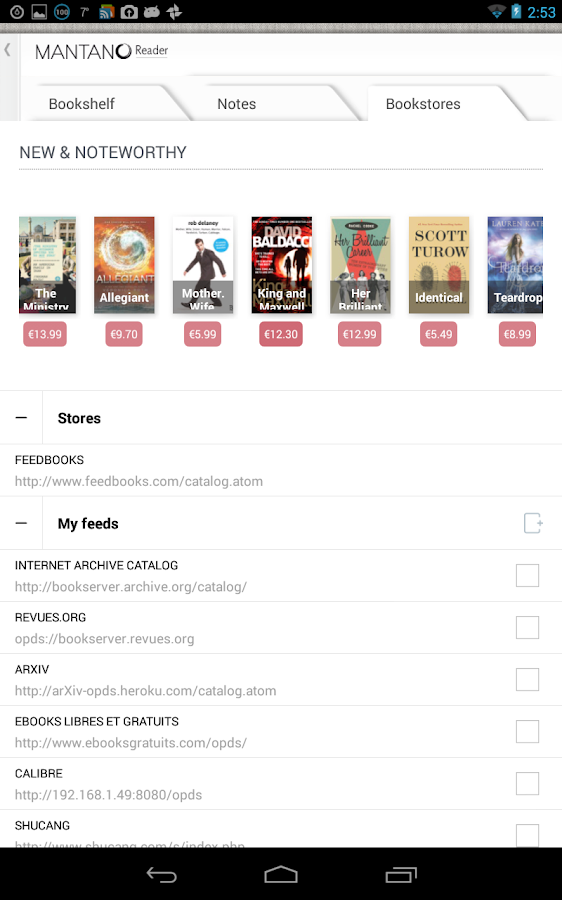 Mantano Ebook Reader Premium v2.5.1.15 APK