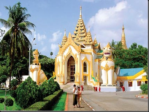 Shwedagon Pagoda West Entrance - Cardinal point Myanmar - Burma