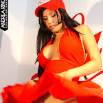 Andrea Rincon, Selena Spice Galeria 55 : Vestido Rojo y Tanga Roja – AndreaRincon.com Foto 24