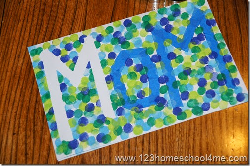 Mother's Day Card Kids can make themselves