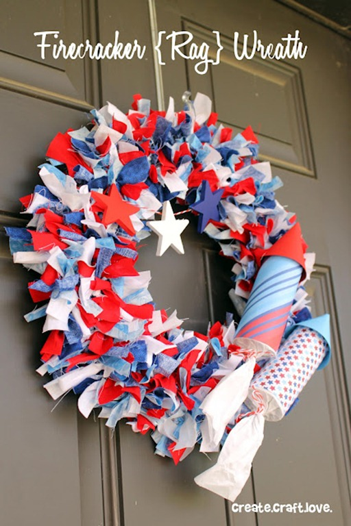 57 patriotic wreath for July 4th