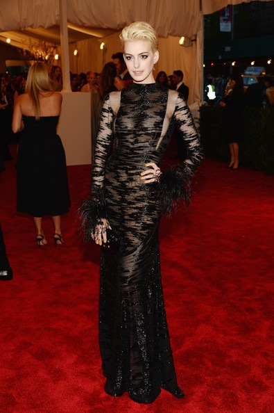 Anne Hathaway attends the Costume Institute Gala