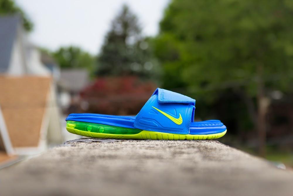 buy popular 773fd 6fdaf ... Nike Air LeBron Slide 3 Elite 8211 Sprite Peach amp Hyper Punch ...