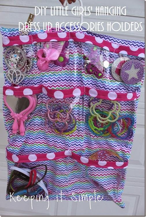 DIY Little Girls Hanging Jewelry Holder