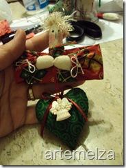 ARTEMELZA - Arte e Artesanato: Natal - enfeite para árvore.