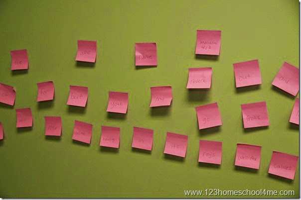 Bible Verse - Post it Memory Verse Review