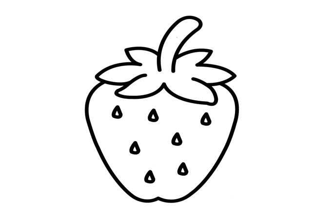 Dibujos De Fresas Para Colorear