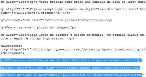 Parte do código fonte