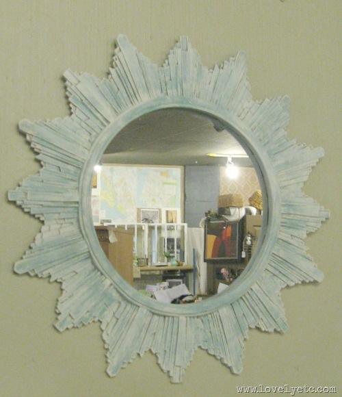 painted sunburst mirror