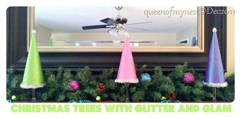 Tree Mantel Glitter and Glam