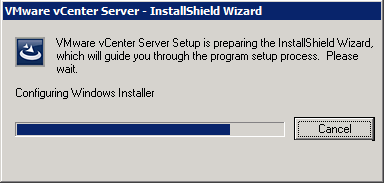 VMware vCenter Server - InstallShield - Configuring Windows Installer