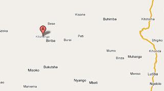 Carte de Kisthanga à Masisi au Nord Kivu