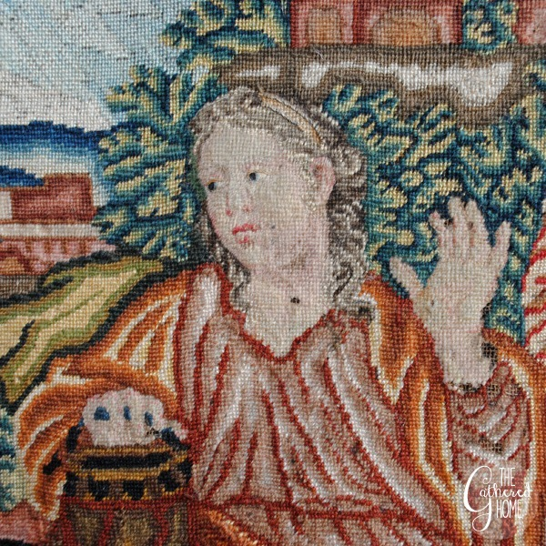 woman at the well vintage needlepoint tapestry 3