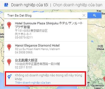 Thêm doanh nghiệp vào Google Maps