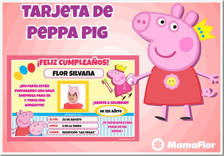 Tarjeta de Peppa Pig