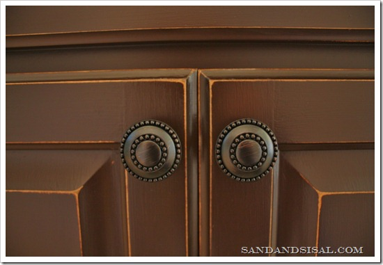 Painted cabinets with oil rubbed bronze harware