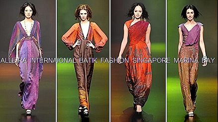 Alleira Internaional Batik fashion Marina Bay Sands