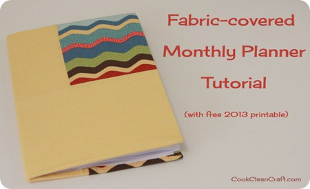 Fabric Covered Monthly Planner Tutorial (10)